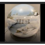capture vignette paysage de neige sur boule