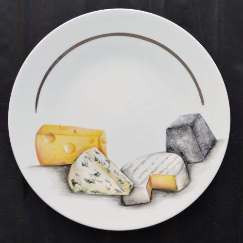 vue ensemble plateau fromages
